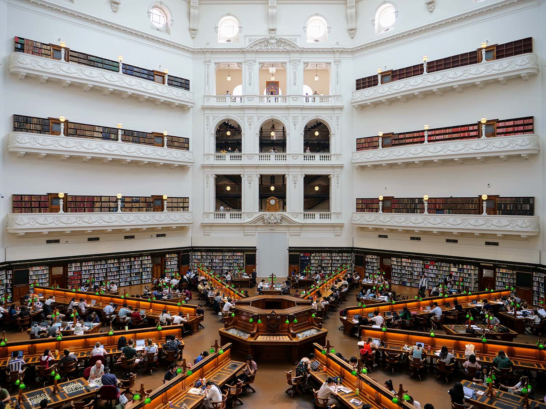 メルボルン ビクトリア州立図書館